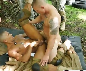Black military dude fucked hard by white soldier