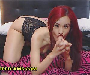 Cute 18yo Redhead Teen Gaping Anal Toying