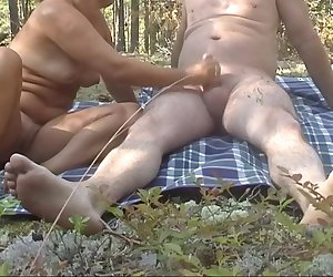 handjob in the forest_720p