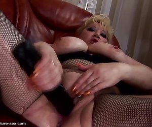 Big busty mom gets DOUBLE