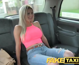 FakeTaxi Stunning blonde with perfect
