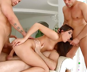 Allinternal Cindy Bubble gets double banged and a creampie