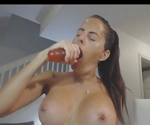 Super Sloppy Gagging And Fun With Fucking Machine