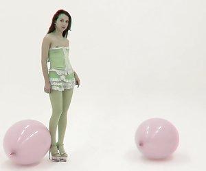 Flexible teen model posing in