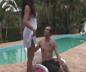 Lorena and Bruna tranny pantyhose video