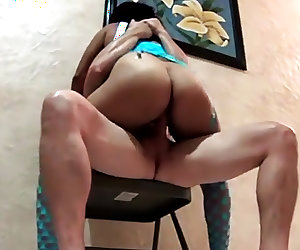 My Latina riding me on a chair