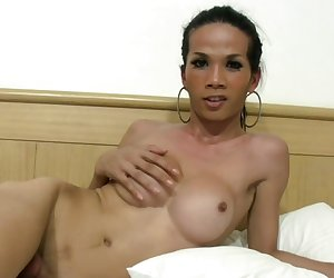Beautiful ladyboy fucks her t-girlfriends exposed anal hole