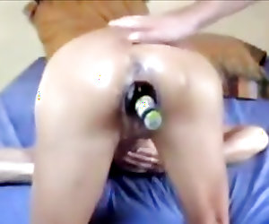 Hardcore chick in rough pussy fisting and insertion