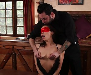 The oriental Kalina Ryu tied up and fucked hard
