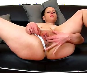 Milf pussy on close-ups feat. european wife Renate