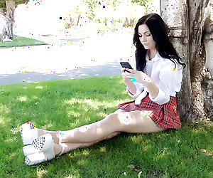 Beautiful Pale Teen Schoolgirl Karly Gets Creampied!!!
