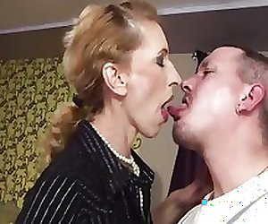 milf gets sperm in charge scrawny ass