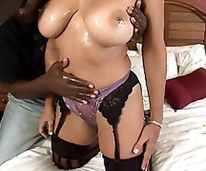 Mature pussy and a black stallion