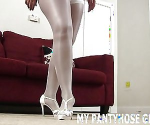 I bought hot new pair of pantyhose just for you JOI