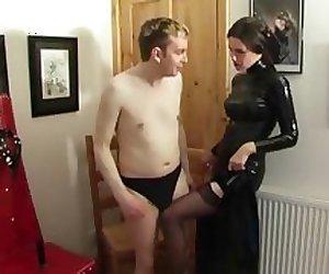 Man Feminised by posh mistresses