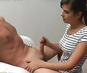 Brandons bare performs handjob with a twist