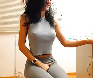 Girl in Leggings with Vibrator