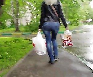 Sexy blond MILF's ass