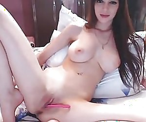 Busty Babe Hot Pink Pussy Play