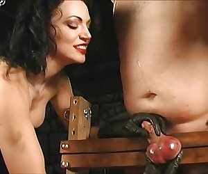 Femdom mistresses cbt dicklet slave in humbler