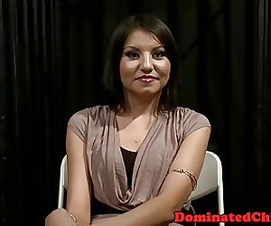 Petite beauty tormented with a vibrator