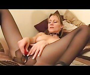 Blonde mature masturbate and fuck