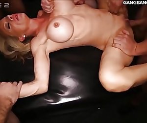 4 Milfs getting fucked hard by complete strangers