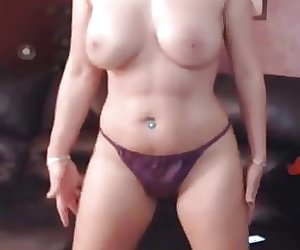 Purple Satin Panties Dancer 05
