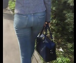 Asses in the morning street