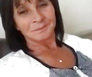 Hot 54 yo Russian mature Maria play on skype