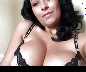 Danica Collins Oils Up Her Boobs And Pussy