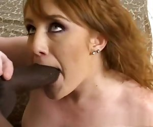 Amazing pornstar Charlie Fire in incredible blowjob, interracial adult video