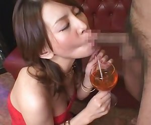 Horny Japanese chick Rei Kitajima in Exotic Blowjob, Cumshots JAV scene